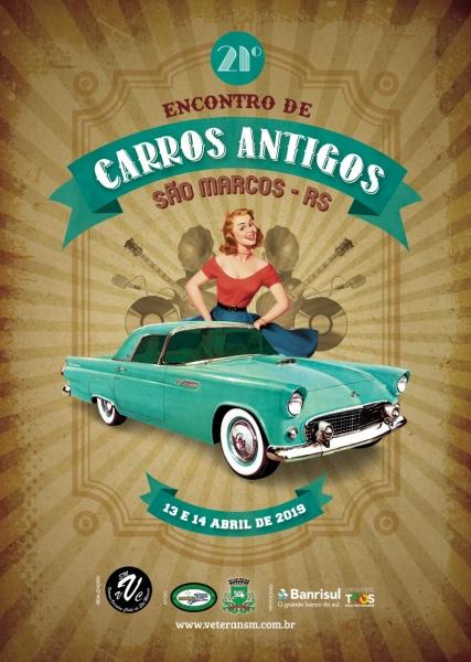 21º Encontro de Carrosl Antigos - Sao Marcos/RS