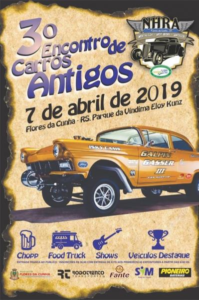 3º Encontro de carros antigos – Flores da Cunha/RS