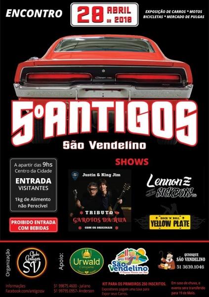 5º Encontro de carros antigos – São Vendelino/RS