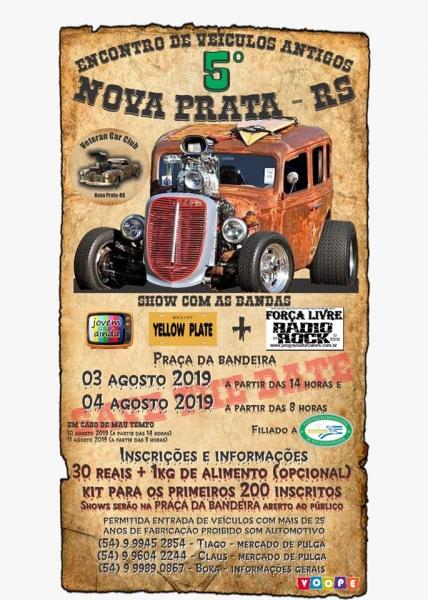 5º Encontro de Veículos Antigos NOVA PRATA– Nova Prata/RS