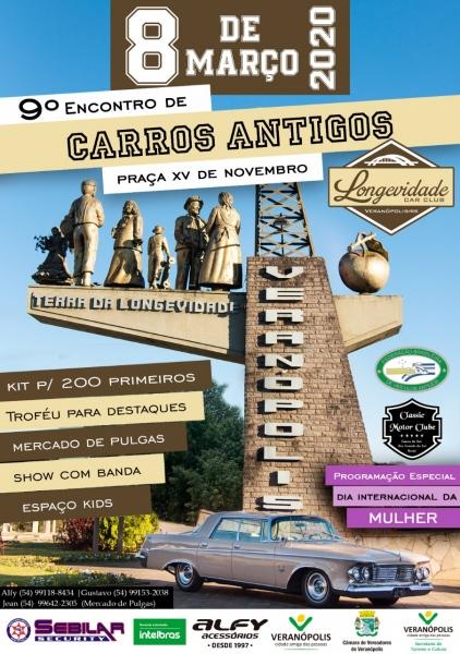 9º Encontro de Carros Antigos - Veranopolis/RS